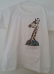 Kids 'giraffe' pocket tee